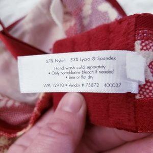 Cacique Intimates & Sleepwear - Lane Bryant Cacique 44C Burgundy Floral EUC